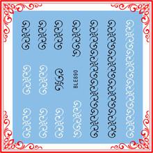 S020-890 venta al por mayor productos del arte del clavo trasvases Slide Sticker calcomanías vides patrón de encaje de uñas pegatinas envuelve