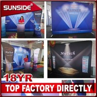 folding pop up banner stand with soft fabric printing ZBX06