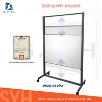 un & down Sliding Whiteboard W/Easels
