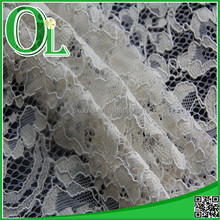 hot selling fashion white African nylon and cotton cord lace fabric with best price