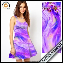 Factory high end digital printing evening gown fabric