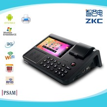 PC700 Android pos terminal support 3G/WiFi/RFID reader/Barcod scanner/build-in thermal printer/PSAM with rechargeable battery