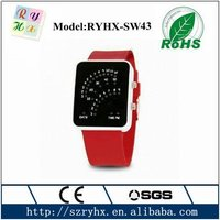 Hot binary touch screen led watch