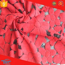 High quality knitted spandex chenilly fabric brushed nylon lace for fashion dress