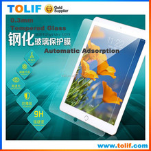 For ipad 2/3/4/5/6 mini tempered glass screen protector 0.3mm 9H with retail box packing , for ipad air 1/2 screen protector