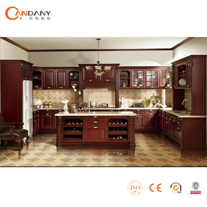 Professional Team Manufacture Solid Wood Kitchen Cabinet