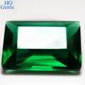 Esmeralda Corte vidrio verde sintético Nano Piedras
