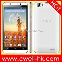 Dual SIM Card 5.5 Inch QHD Touch Screen X-BO V7 cheap big screen android phone