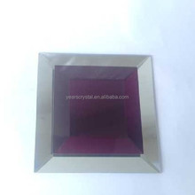"""years factory Square mixed wine red crystal mosaic glass wall tile with4""""for bathroom and floor (R-2325"""