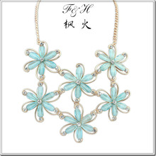 Unique design jewelry wholesale fine handmade jewelry, flower statement necklace