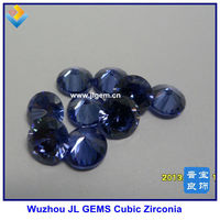 Hot Sale Lab Created Round Blue Tanzanite/Tansanite CZ Gemstone With AAA