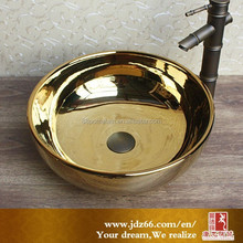 Eco-friendly copper like corner sink ceramic
