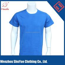 Wholesale plain poly cotton blank t shirt
