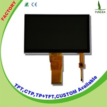 China factory with CTP 800x480 7 inch tft lcd touch screen displays module