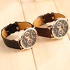 Men's Business Casual Leather Strap leather Watch Winner
