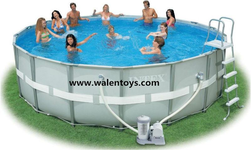 Above ground pvc frame pools intex metal frame pool 12x36 for Piscina de pvc