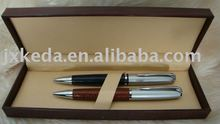 2014 Leather Pen Set 2 in 1 Box(leather ball pen and roller pen)
