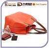 Hot Sale Faux Leather Fashion Woman Tote Handbag 2015 Promotional Messenger Shoulder Bag
