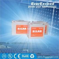 Solar GEL 12v rechargeable valve regulated lead acid battery