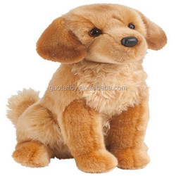 sitting brown plush dog toy honest pet toy for kids toy