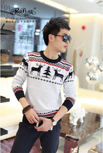 2014 Peijiaxin Hot Selling Casual Style Fawn Pattern Latest New Style Sweater