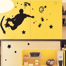 100pcs Extreme sports skateboarding street wall stickers decorative painting living room bedroom wallpaper waterproof stickers