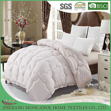 Wholesaler hotel new design quilted patchwork white printed microfiber fabric microfiber quilt