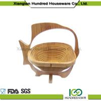 Newest design bamboo Kitchen Basket