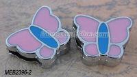 Cheap metal rhinestone slide charm butterfly in stock