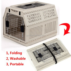 2015 High Quality 100% New ABS Folding Pet Cage for Dogs and Cats
