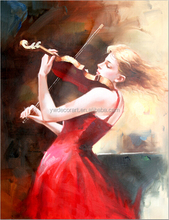violin girl print canvas for wholesale