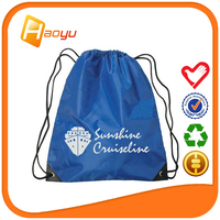 Wholesalers china polyester fabric shoe bag for backpacks