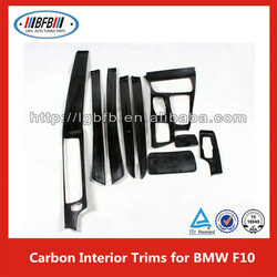 3D Real Carbon A/T SMG Shift Surround Trim for BMW 5 series F10 DRY Carbon RHD RSW Window Switch Panel Cover