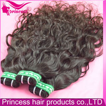 Mongolian human virgin lasting long water wave hair weft