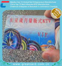 Customized special Club / KTV VIP business card with hot stamping laser