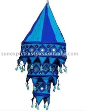 5 India Handicraft 3 Step Cotton Mirror Lamp Shades
