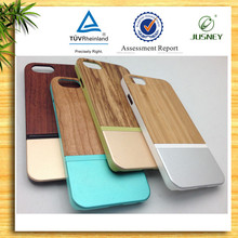 bamboo wooden & aluminum for iphone 6 case wholesale with logo engraved