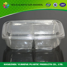 Plastic food container 2 compartments
