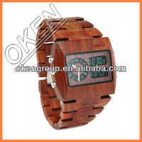 Wholesale Cheap Square Black Sandal Wooden Watch with Custom Logo