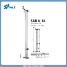 Stals expert manufacturer new product for sale stainless steel with glass plate baluster