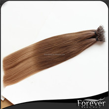 Top quality cheap 10 to 30 inch natural color nano ring hair extensions hair salon expression haiombre Nano Ring Hair Extensions
