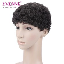 Top quality human hair afro wigs for black men