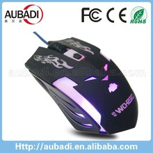 Deshow new products custom led mouse metal back cover game mouse r8