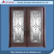 high strength double entry door with glass insert