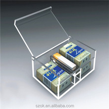 clear acrylic widely use storage square display box with lds wholesale