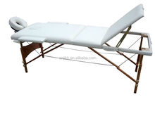 2015HOT SALES 3 zoon wooden folding massage bed spa equipment