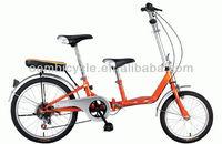 tandem folding bike/folding bicycle for mom and baby/adult folding bike