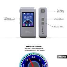 lowest price e-cigarett most popular electronics vapor mod, magnet back cover 7w~60w kamry60 watt electronic cigarette vaporizer