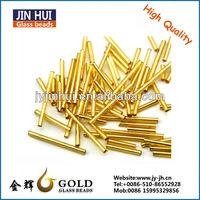 JIN HUI high quality Golden 2.5cm bugle fashion glass beads wholesale