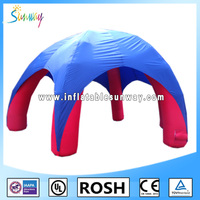 hot sale 4-legs inflatable blue dome tent for promotion or events